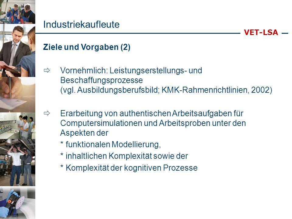 Industriekaufleute Ziele und Vorgaben (2)