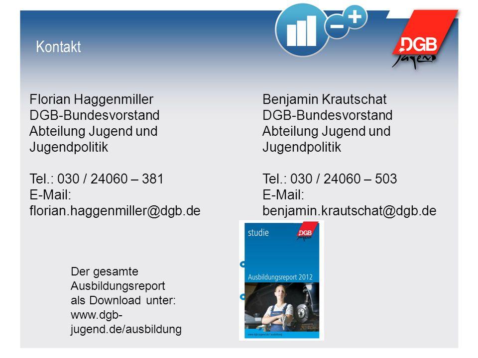 Kontakt Florian Haggenmiller DGB-Bundesvorstand