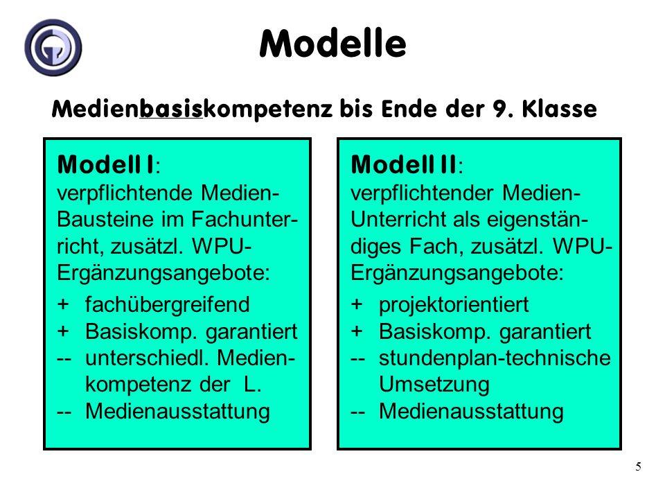Modelle Medienbasiskompetenz bis Ende der 9. Klasse