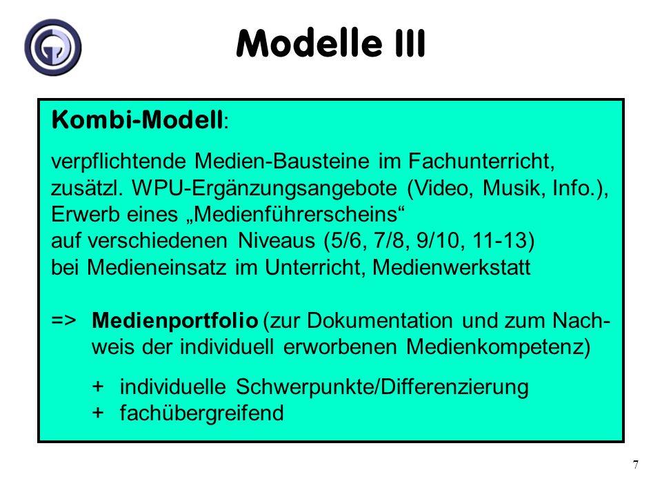 Modelle III Kombi-Modell: