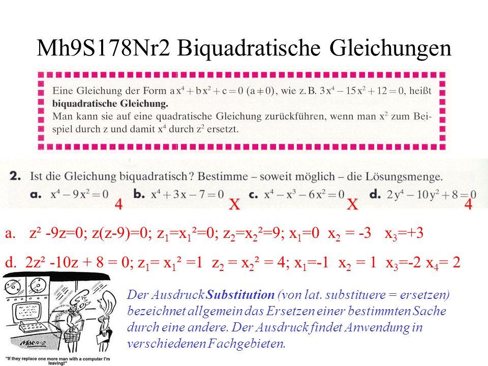 Mh9S178Nr2 Biquadratische Gleichungen