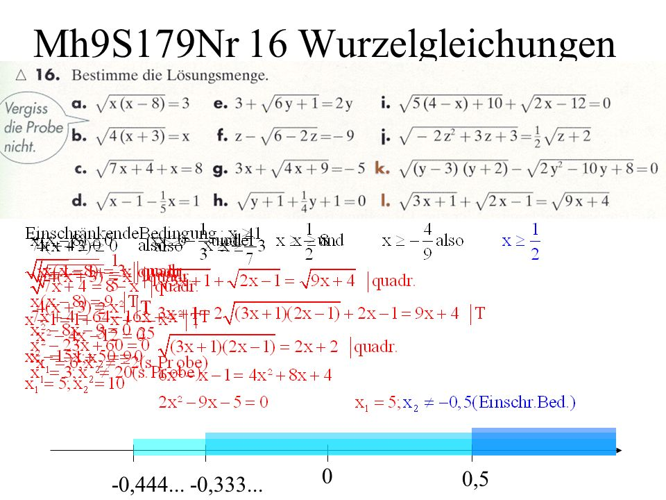 Mh9S179Nr 16 Wurzelgleichungen