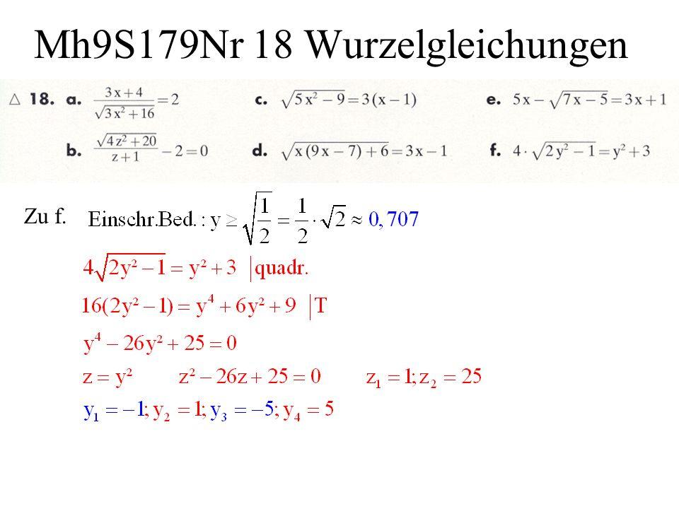 Mh9S179Nr 18 Wurzelgleichungen