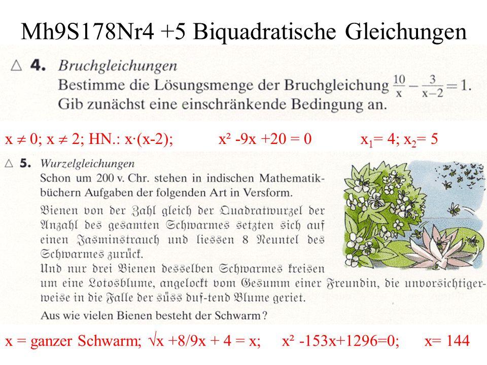Mh9S178Nr4 +5 Biquadratische Gleichungen