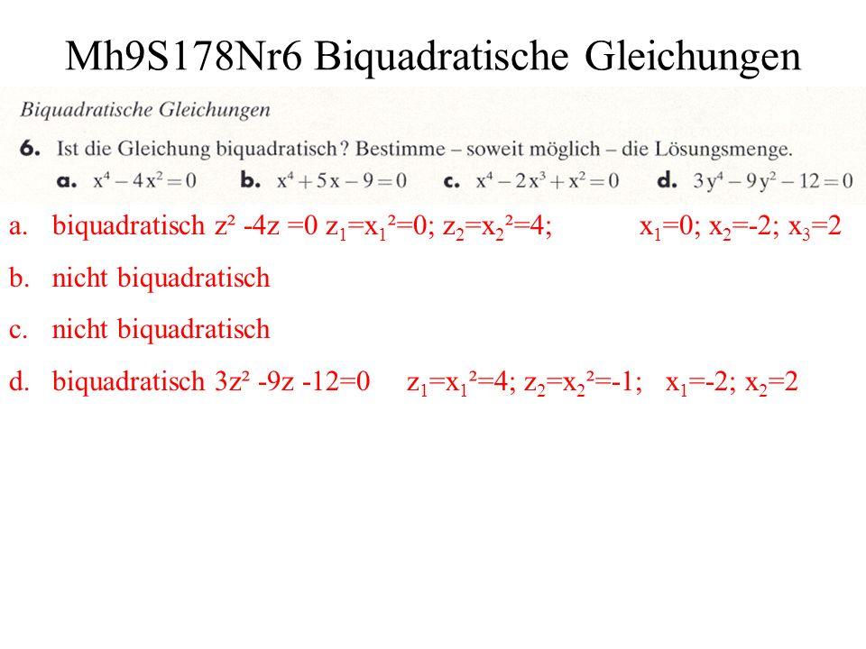 Mh9S178Nr6 Biquadratische Gleichungen