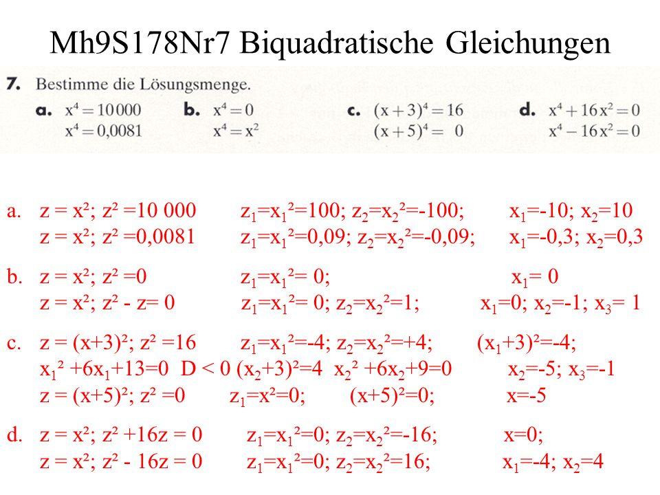 Mh9S178Nr7 Biquadratische Gleichungen