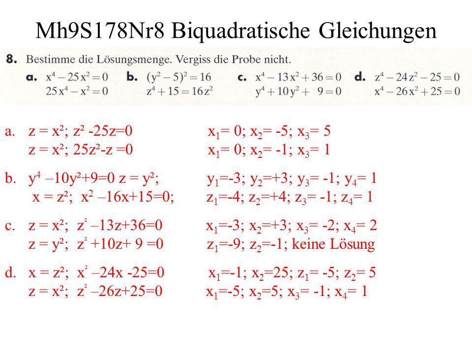 Mh9S178Nr8 Biquadratische Gleichungen