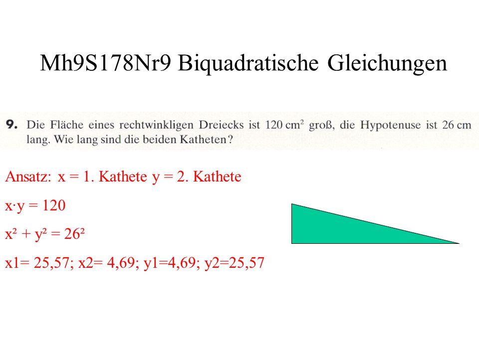 Mh9S178Nr9 Biquadratische Gleichungen