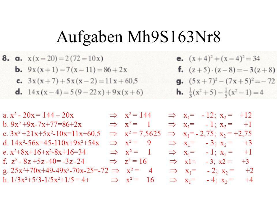 Aufgaben Mh9S163Nr8