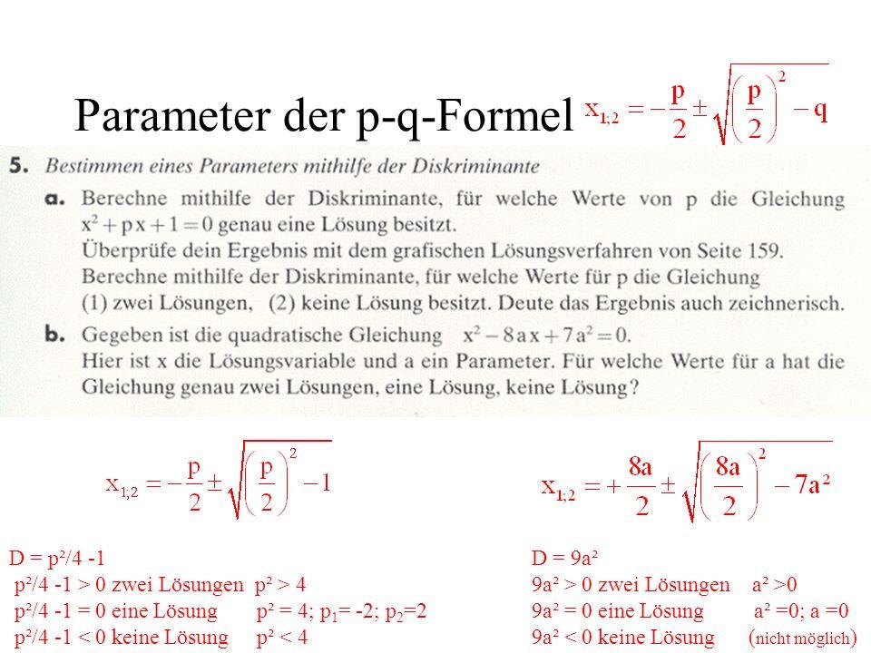 Parameter der p-q-Formel