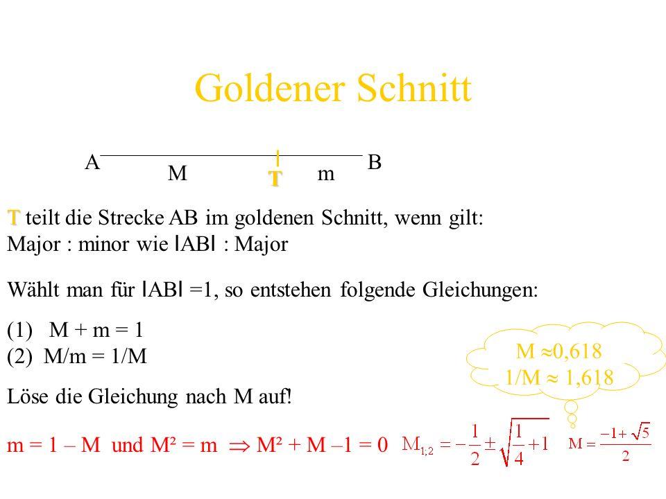 Goldener Schnitt A B M m T