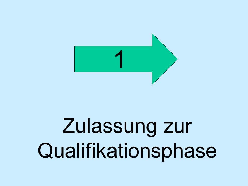 Zulassung zur Qualifikationsphase