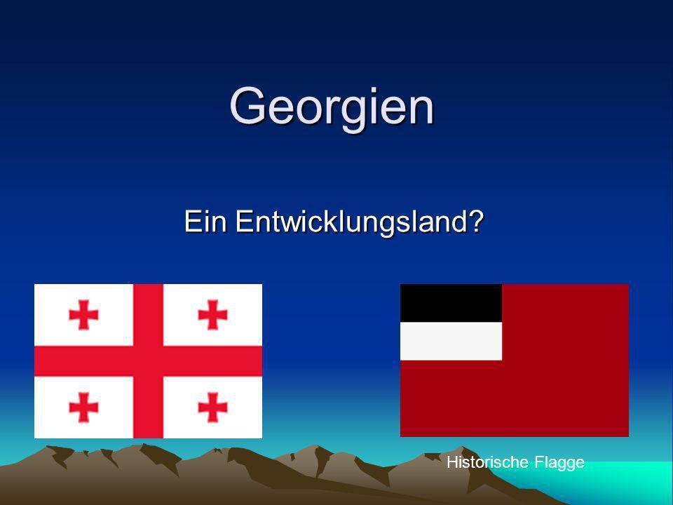 Georgien Ein Entwicklungsland Historische Flagge