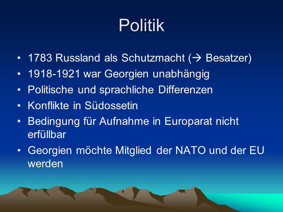 Politik 1783 Russland als Schutzmacht ( Besatzer)
