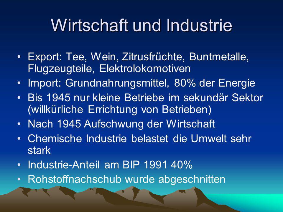 Wirtschaft und Industrie