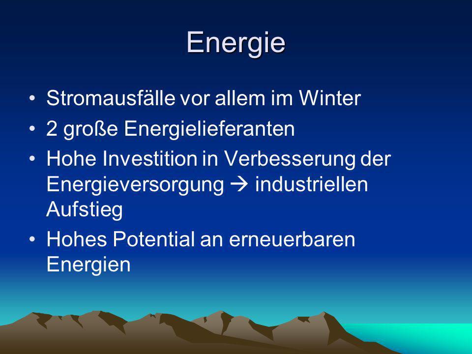 Energie Stromausfälle vor allem im Winter 2 große Energielieferanten