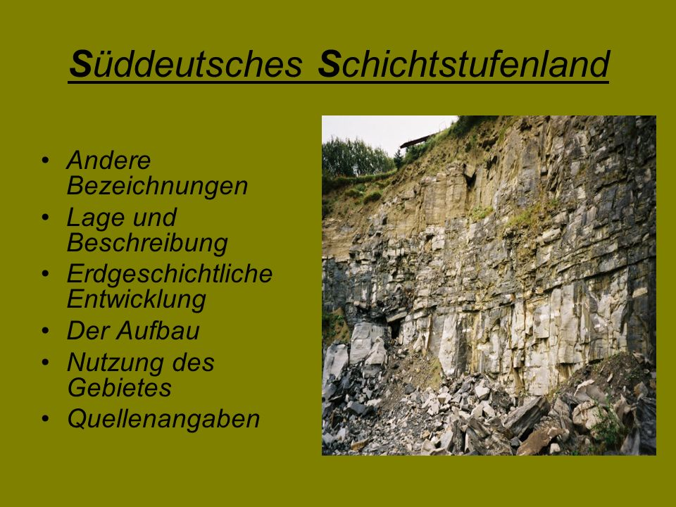 Süddeutsches Schichtstufenland