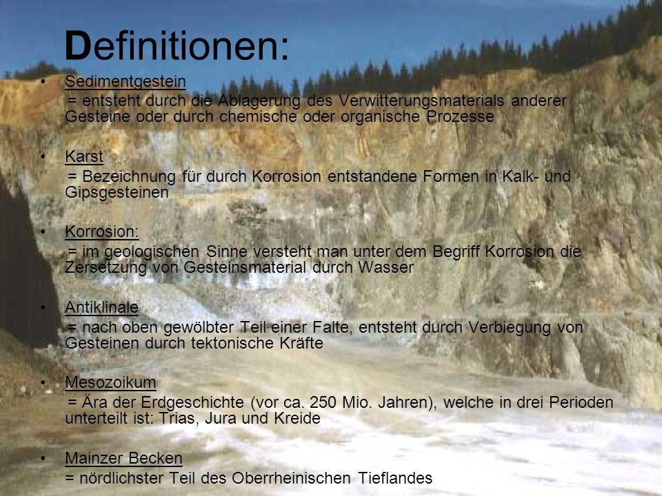Definitionen: Sedimentgestein