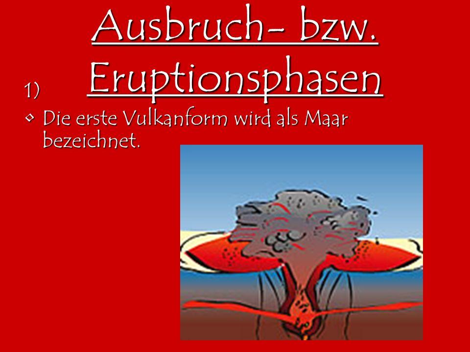 Ausbruch- bzw. Eruptionsphasen