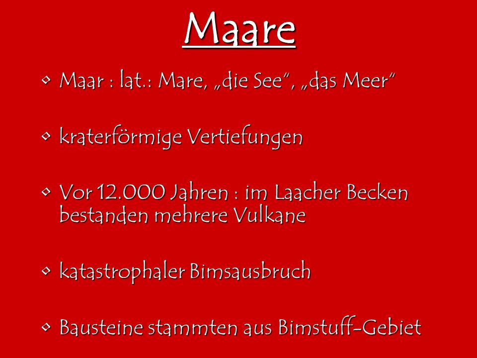 """Maare Maar : lat.: Mare, """"die See , """"das Meer"""