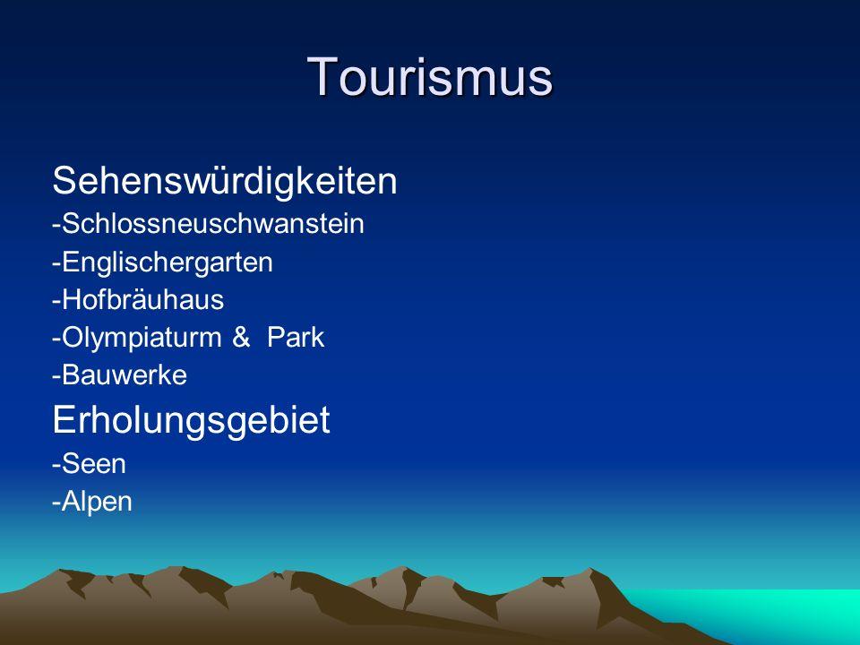 Tourismus Sehenswürdigkeiten Erholungsgebiet -Schlossneuschwanstein