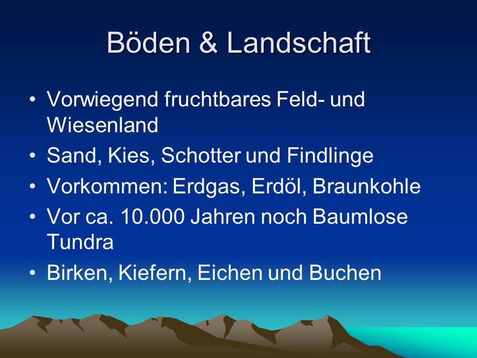Böden & Landschaft Vorwiegend fruchtbares Feld- und Wiesenland