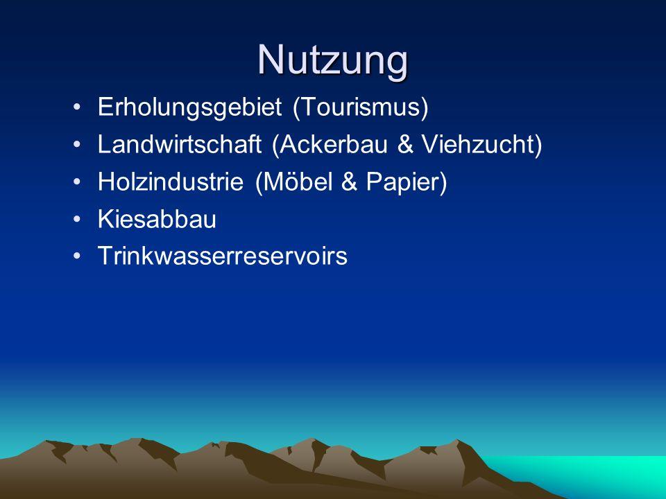 Nutzung Erholungsgebiet (Tourismus)