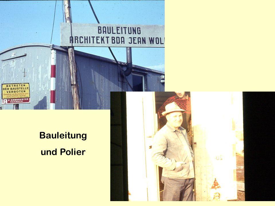 Bauleitung und Polier