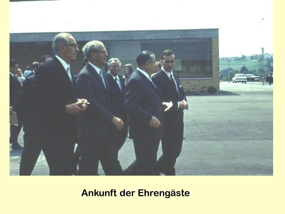 Ankunft der Ehrengäste