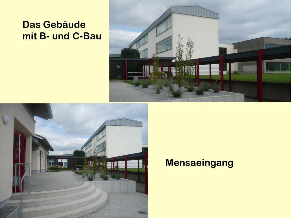 Das Gebäude mit B- und C-Bau
