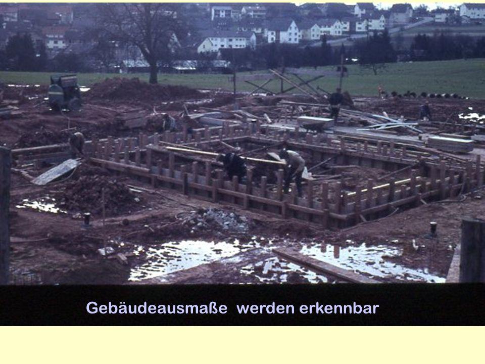 Gebäudeausmaße werden erkennbar