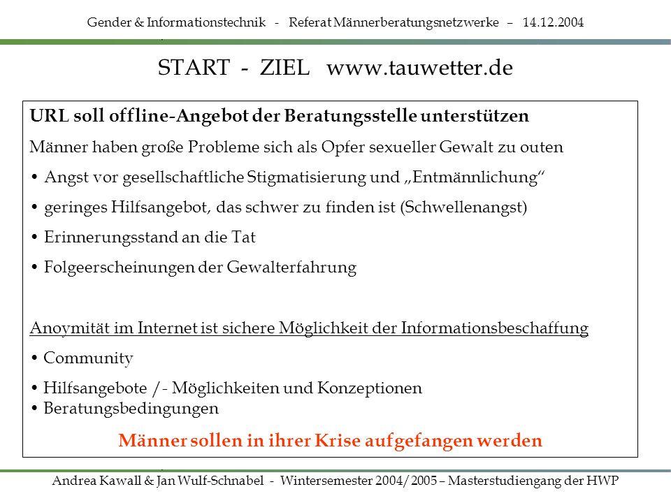 START - ZIEL www.tauwetter.de