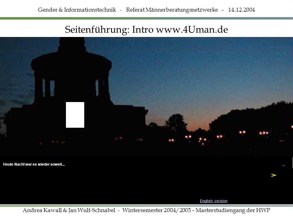 Seitenführung: Intro www.4Uman.de
