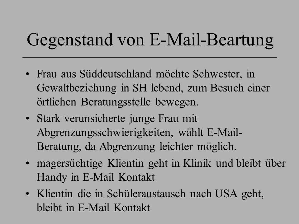 Gegenstand von E-Mail-Beartung