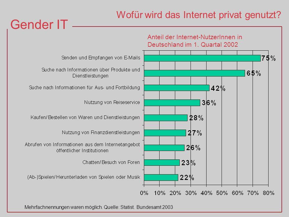 Wofür wird das Internet privat genutzt