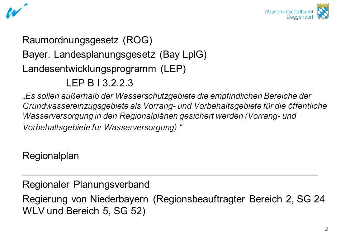 Raumordnungsgesetz (ROG) Bayer. Landesplanungsgesetz (Bay LplG)