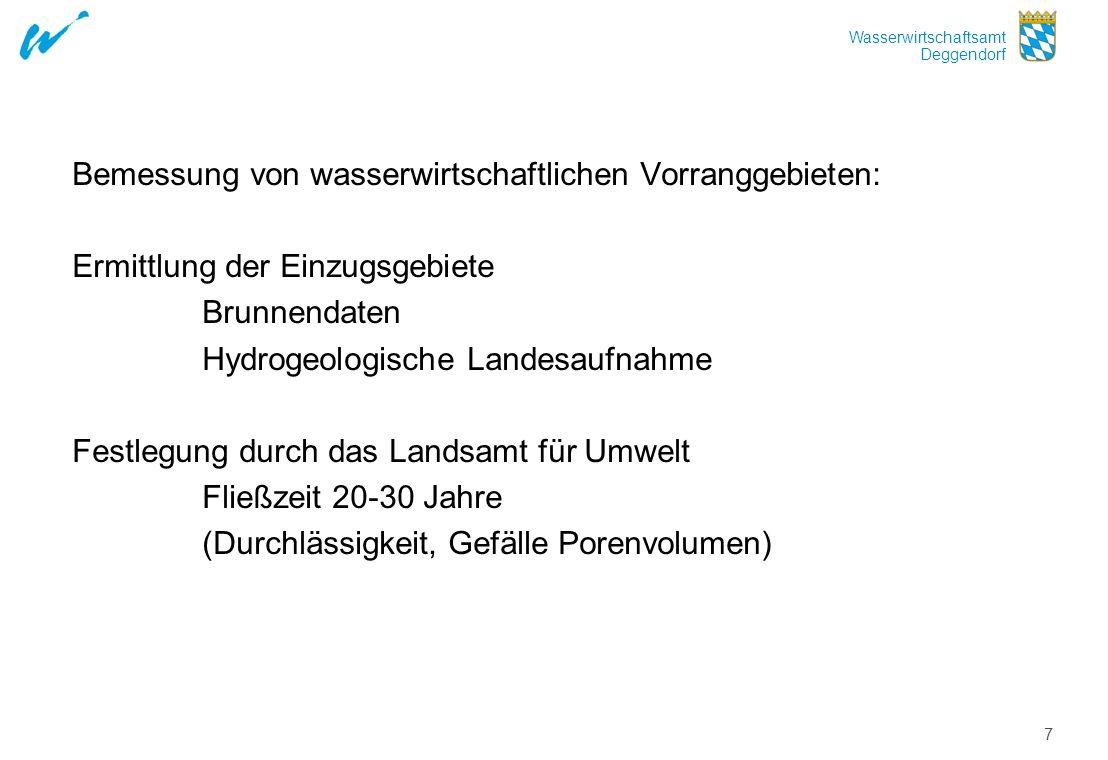Bemessung von wasserwirtschaftlichen Vorranggebieten: