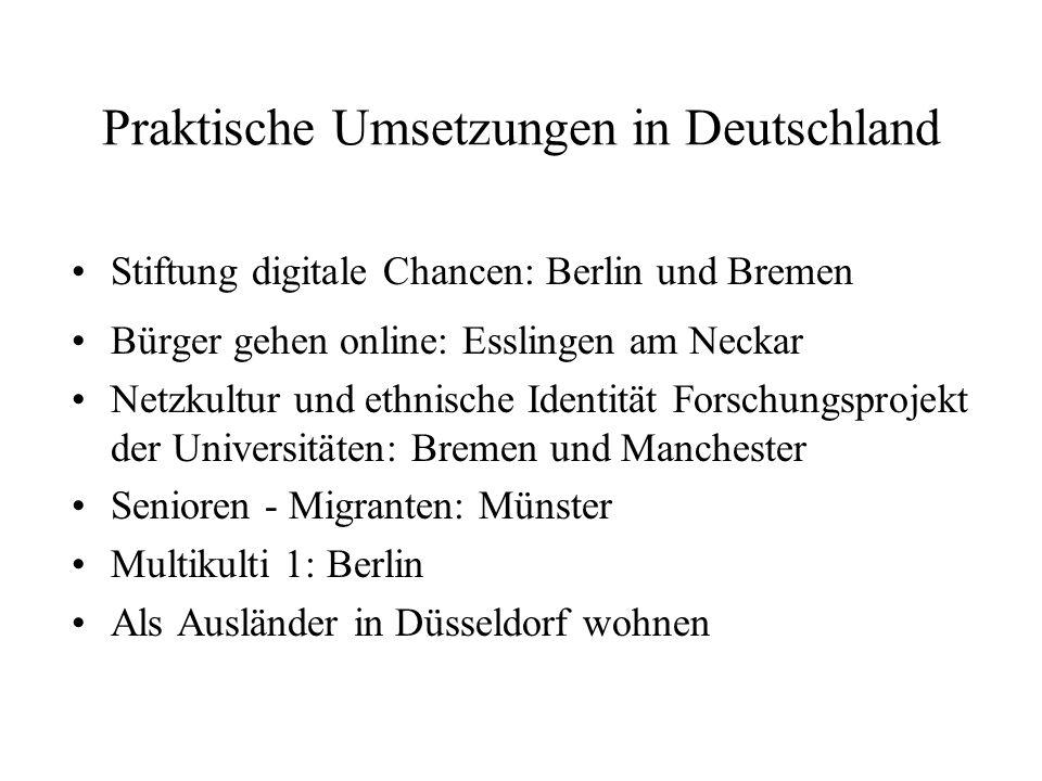 Praktische Umsetzungen in Deutschland