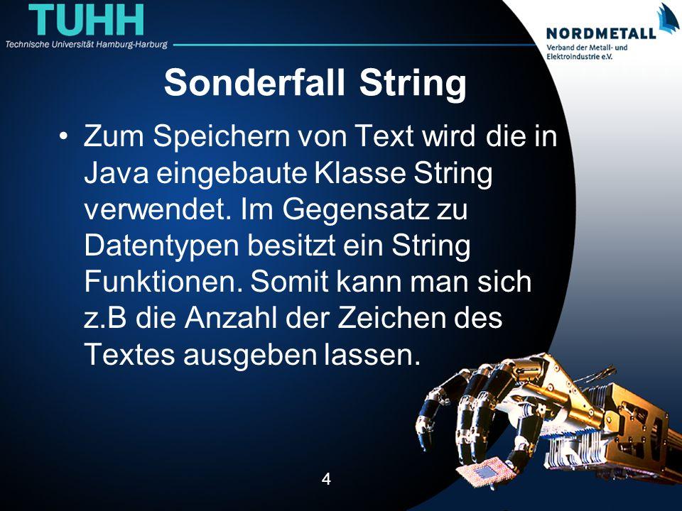 Sonderfall String