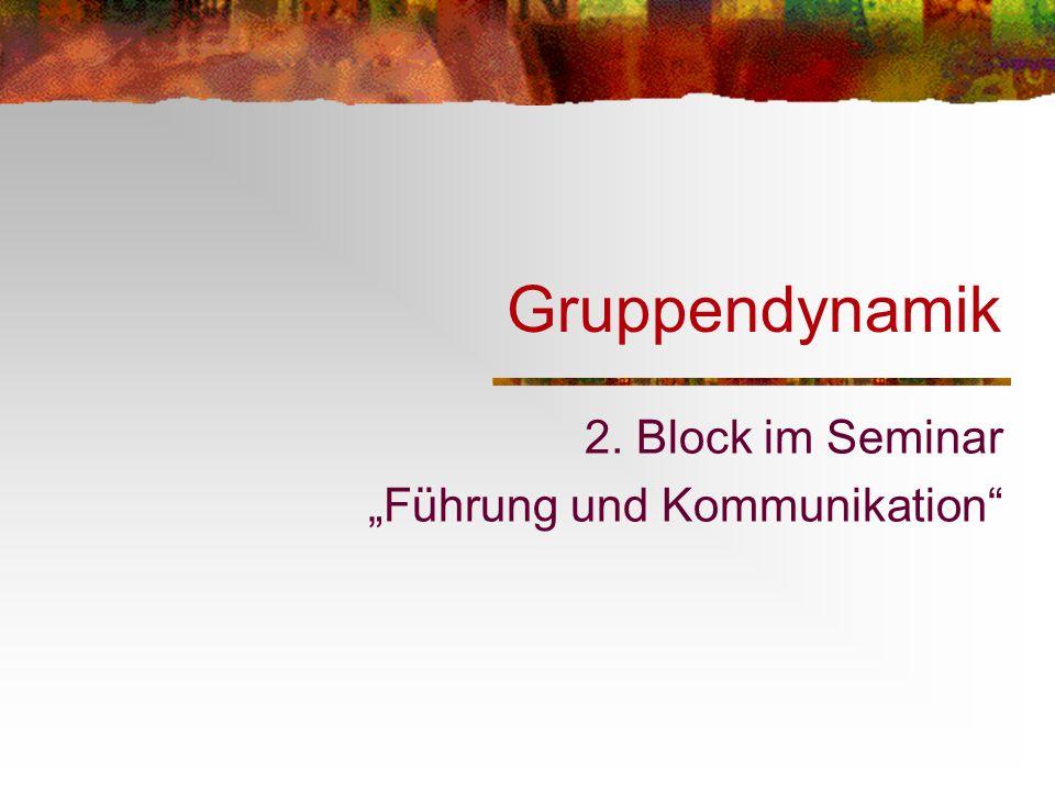 """2. Block im Seminar """"Führung und Kommunikation"""