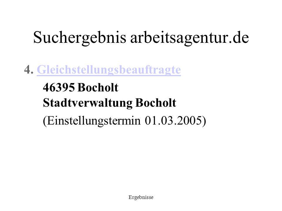 Suchergebnis arbeitsagentur.de