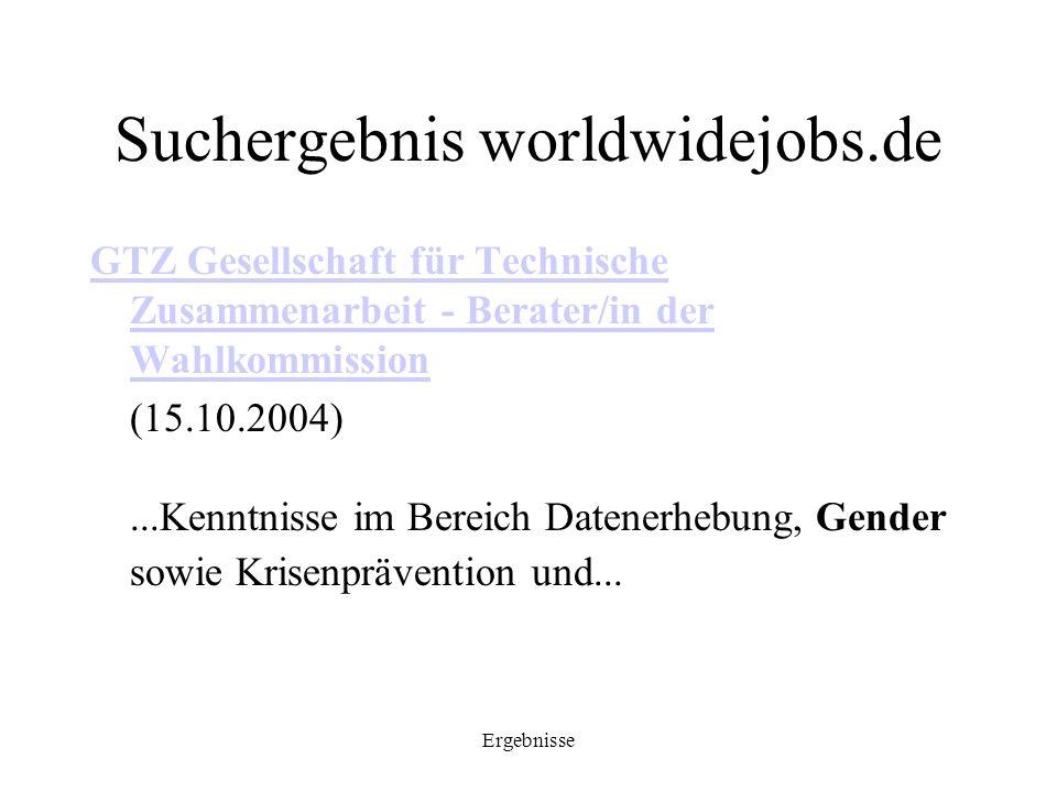 Suchergebnis worldwidejobs.de