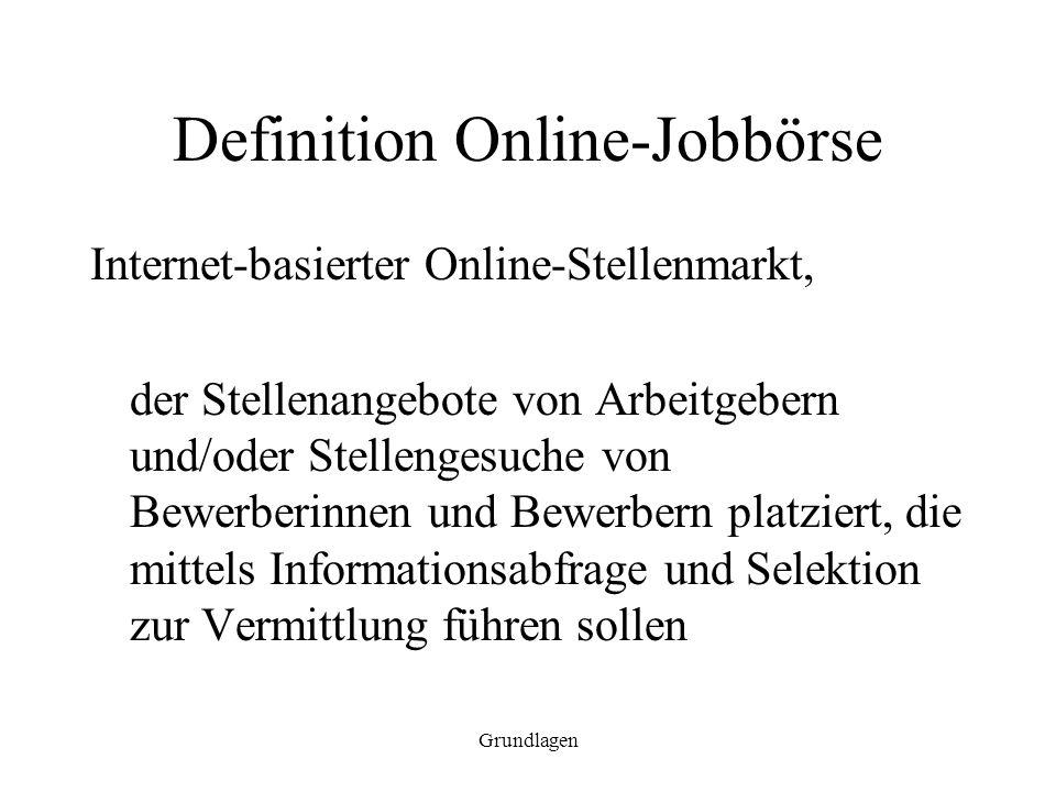 Definition Online-Jobbörse