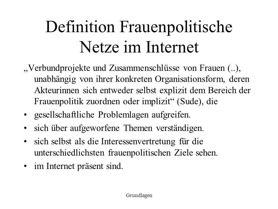 Definition Frauenpolitische Netze im Internet