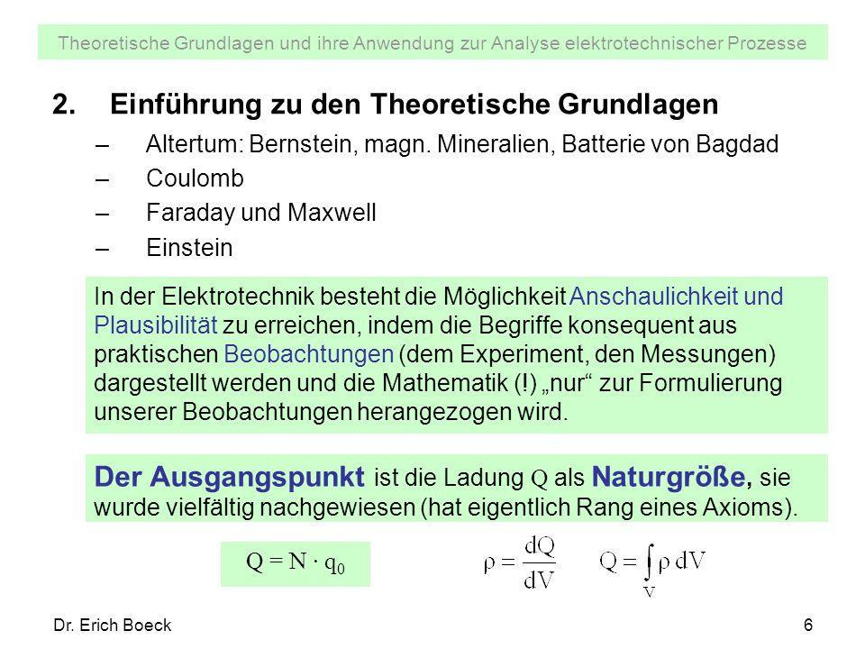 Einführung zu den Theoretische Grundlagen