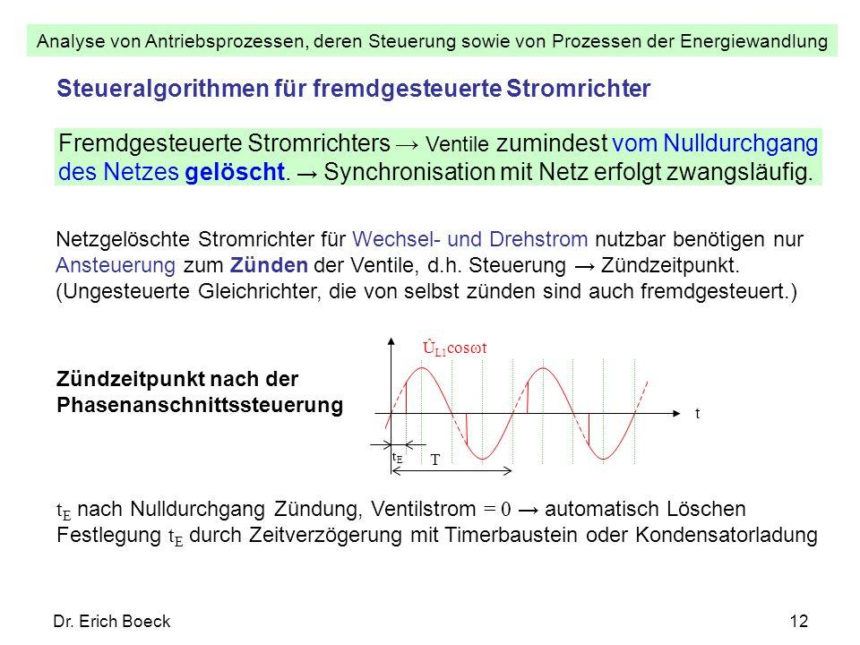 Steueralgorithmen für fremdgesteuerte Stromrichter