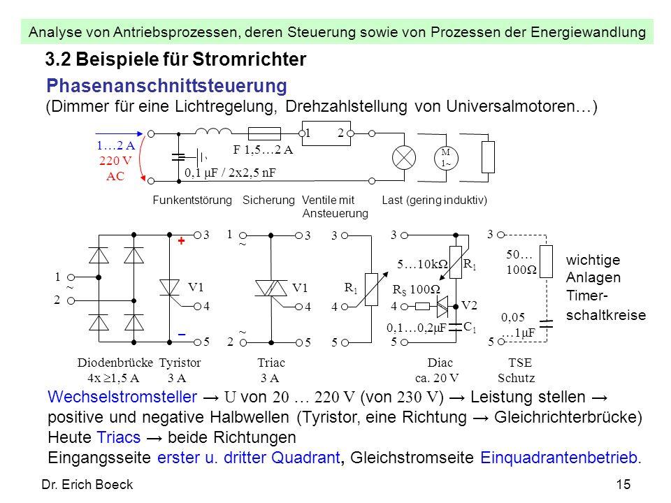 3.2 Beispiele für Stromrichter Phasenanschnittsteuerung