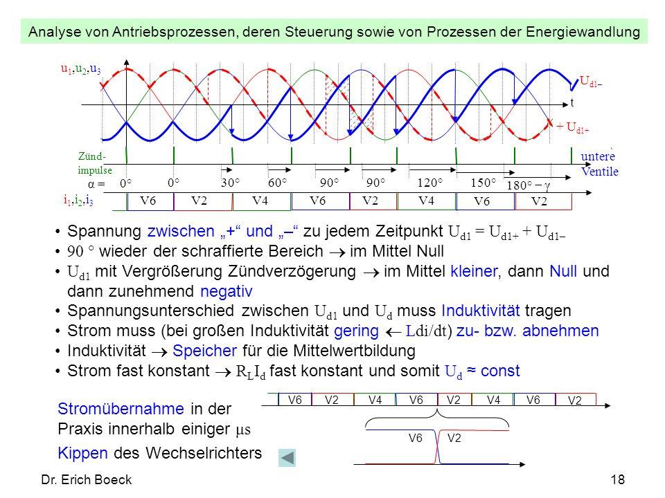 """Spannung zwischen """"+ und """"– zu jedem Zeitpunkt Ud1 = Ud1+ + Ud1–"""