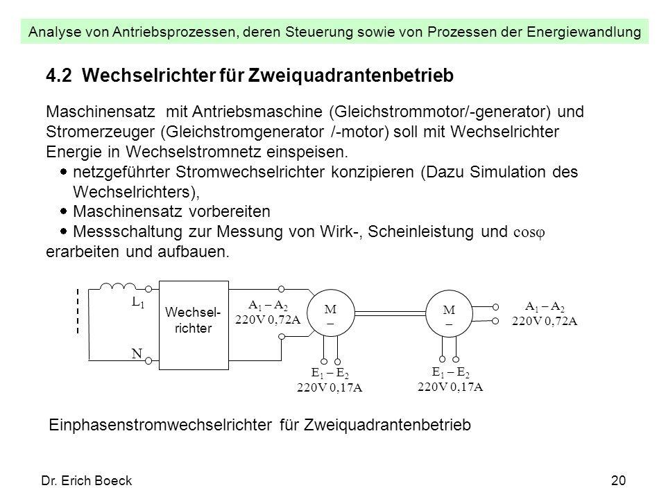 4.2 Wechselrichter für Zweiquadrantenbetrieb