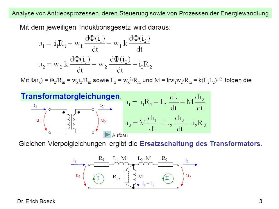 Transformatorgleichungen:
